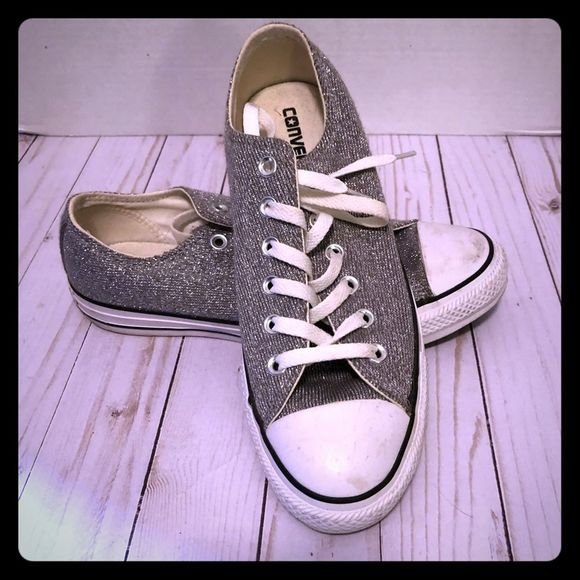 Converse Shoes - Converse Silver Chuck Taylor Sneakers size 9